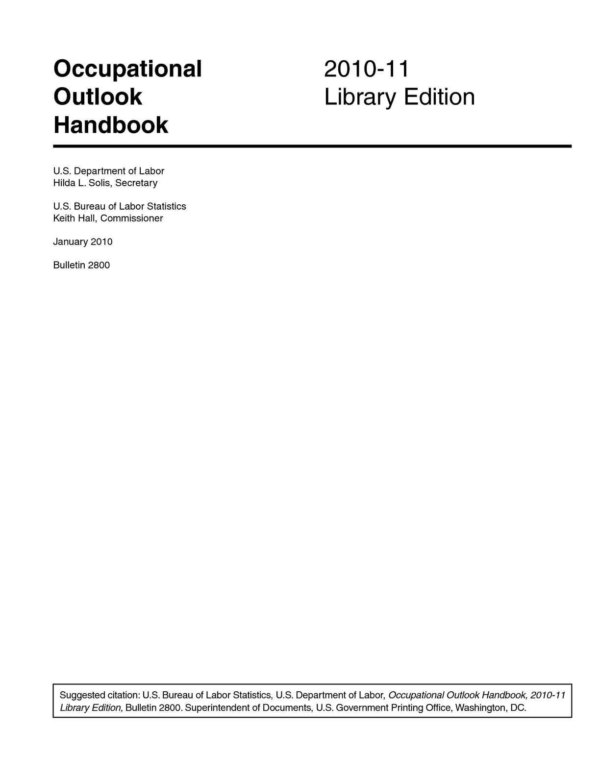 Calaméo - Occupational Outlook Handbook 2010-11 Liry Edition on