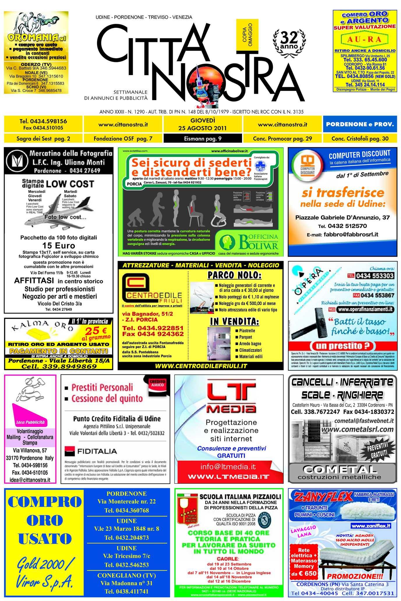 Calaméo Citt Nostra Pordenone Del 25 08 2011 N 1290