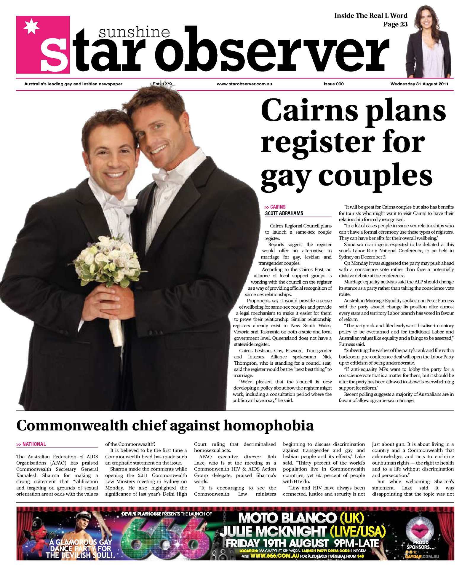 in Gay australia registers