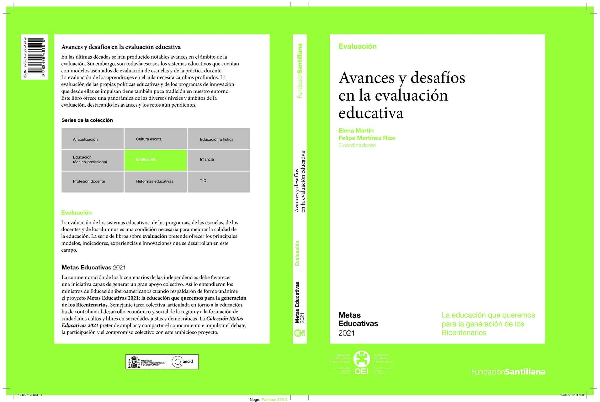 Calaméo - Avances y desafíos en la evaluación educativa. Elena ...