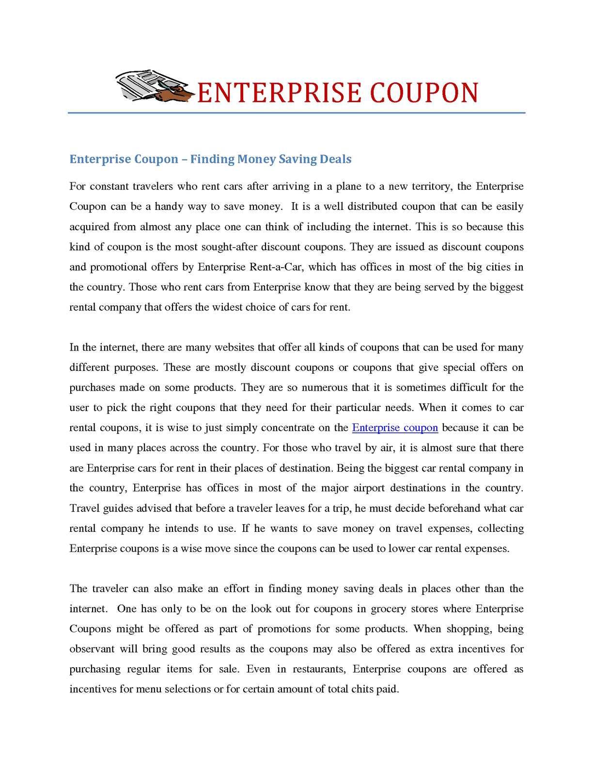 calaméo - more informations about enterprise coupon