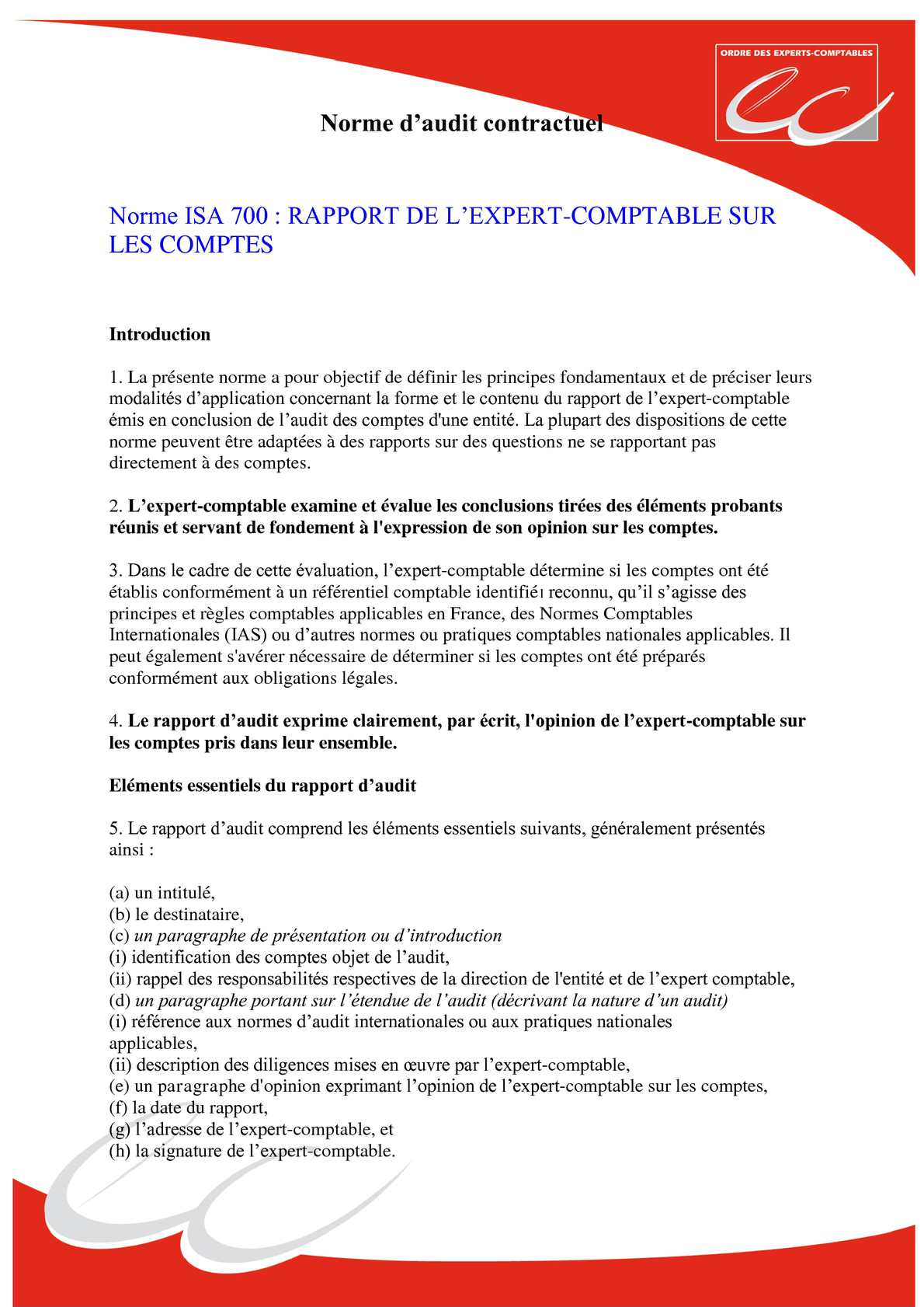 Calam o ns mission d 39 audit contractuel - Grille des salaires expertise comptable ...