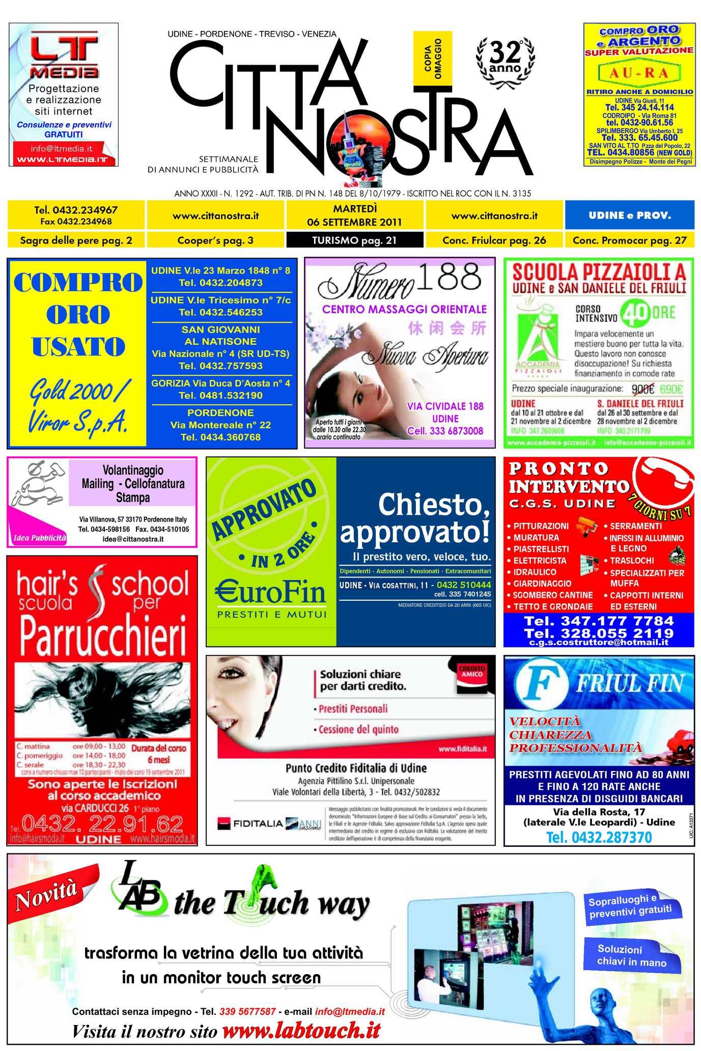 Calaméo Citt Nostra Udine Del 06 09 2011 N 1292