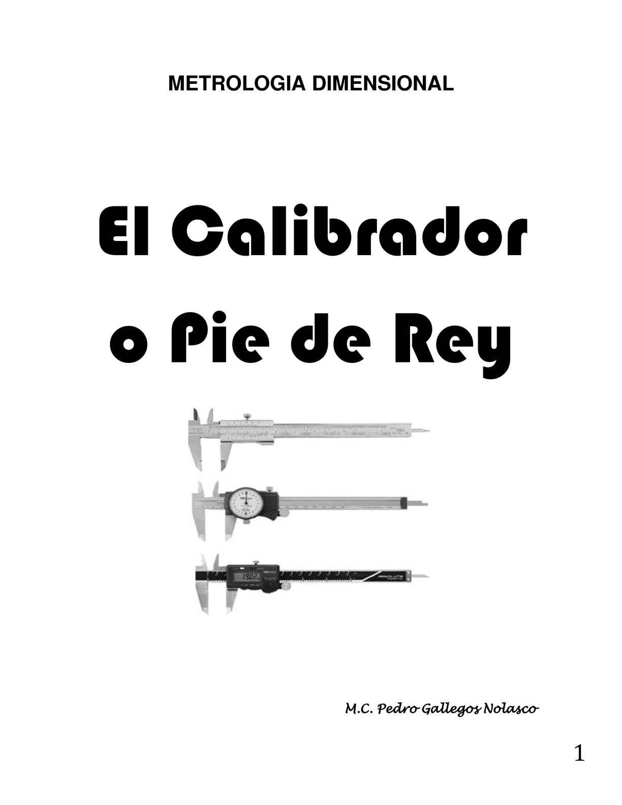 MANUAL CALIBRADOR PIE DE REY