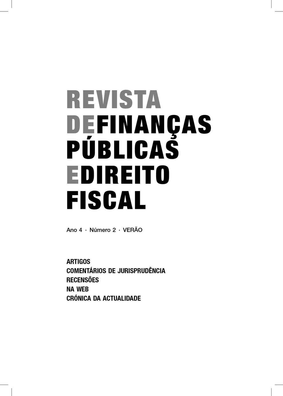 Calamo revista de finanas pblicas e direito fiscal fandeluxe Gallery