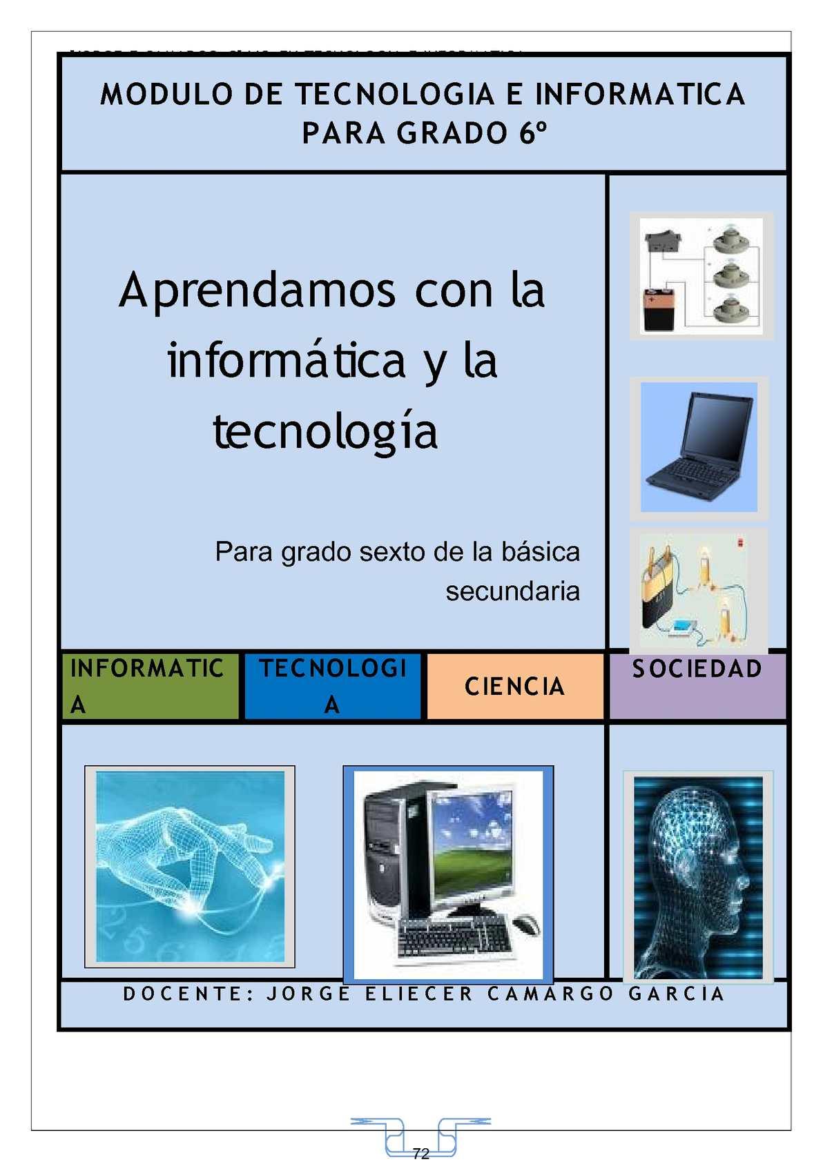 Calaméo - MODULO DE TECNOLOGÍA E INFORMÁTICA PARA GRADO 6o