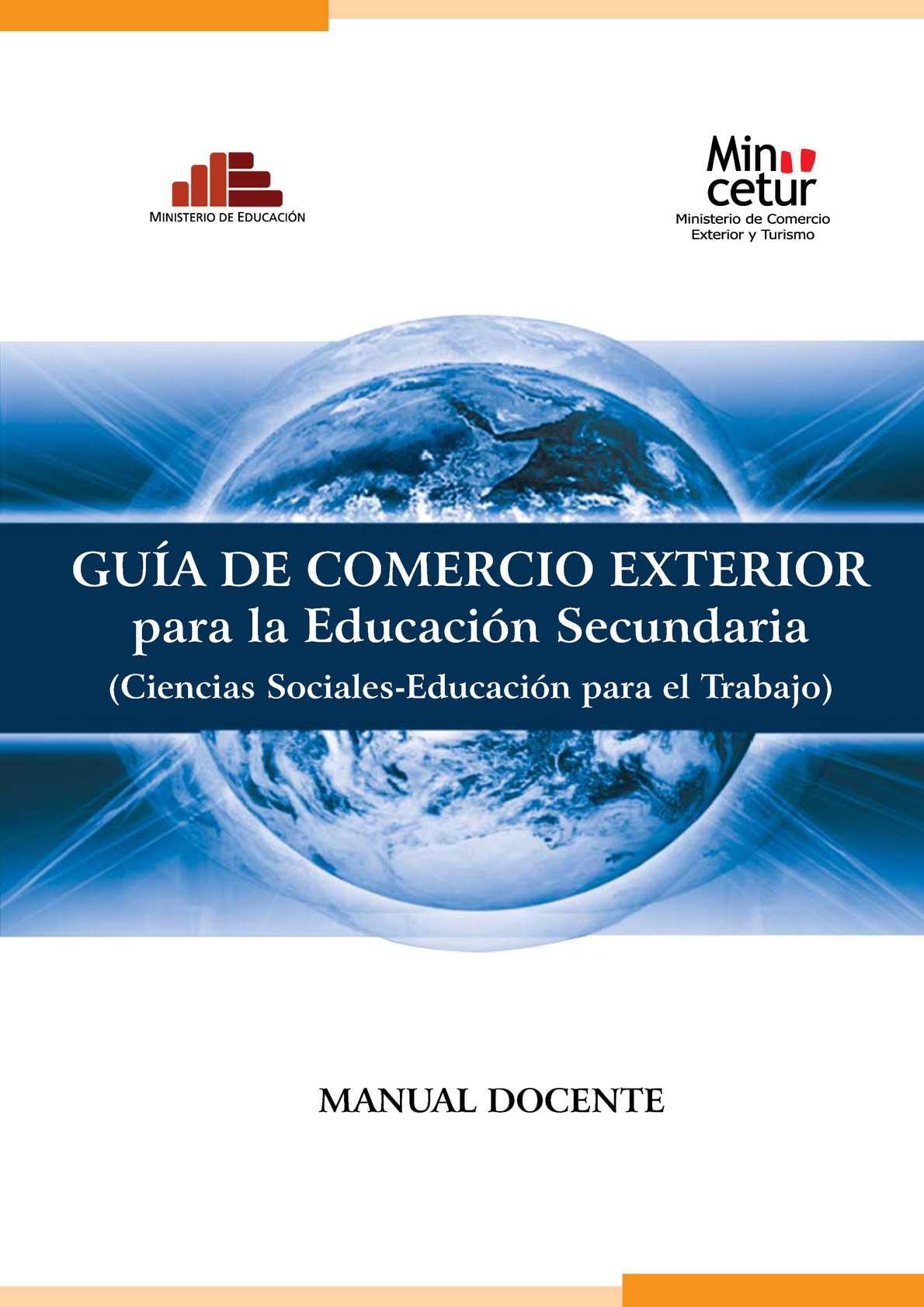 Calam o manual comercio exterior para docentes peru for Docente comercio exterior