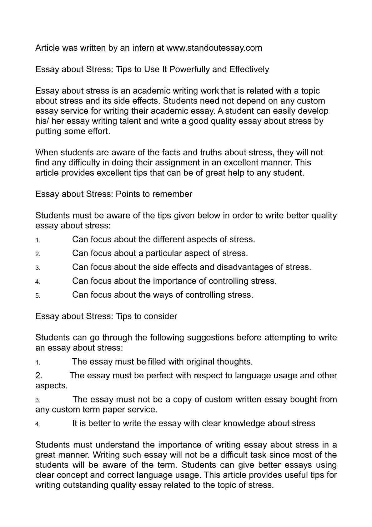 Essay On Science And Religion  Examples Thesis Statements Essays also Essays About High School Calamo  Essay About Stress Tips To Use It Powerfully And Effectively 5 Paragraph Essay Topics For High School