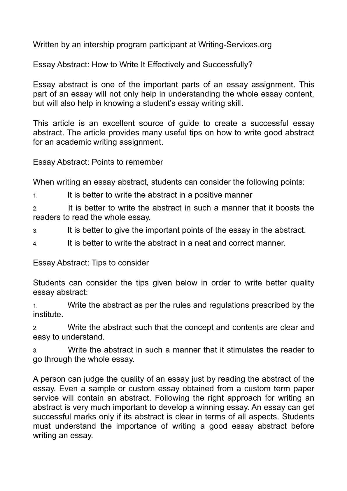 Calamo  Essay Abstract How To Write It Effectively And Successfully  Science Essay Examples also Diwali Essay In English  Columbia Business School Essay