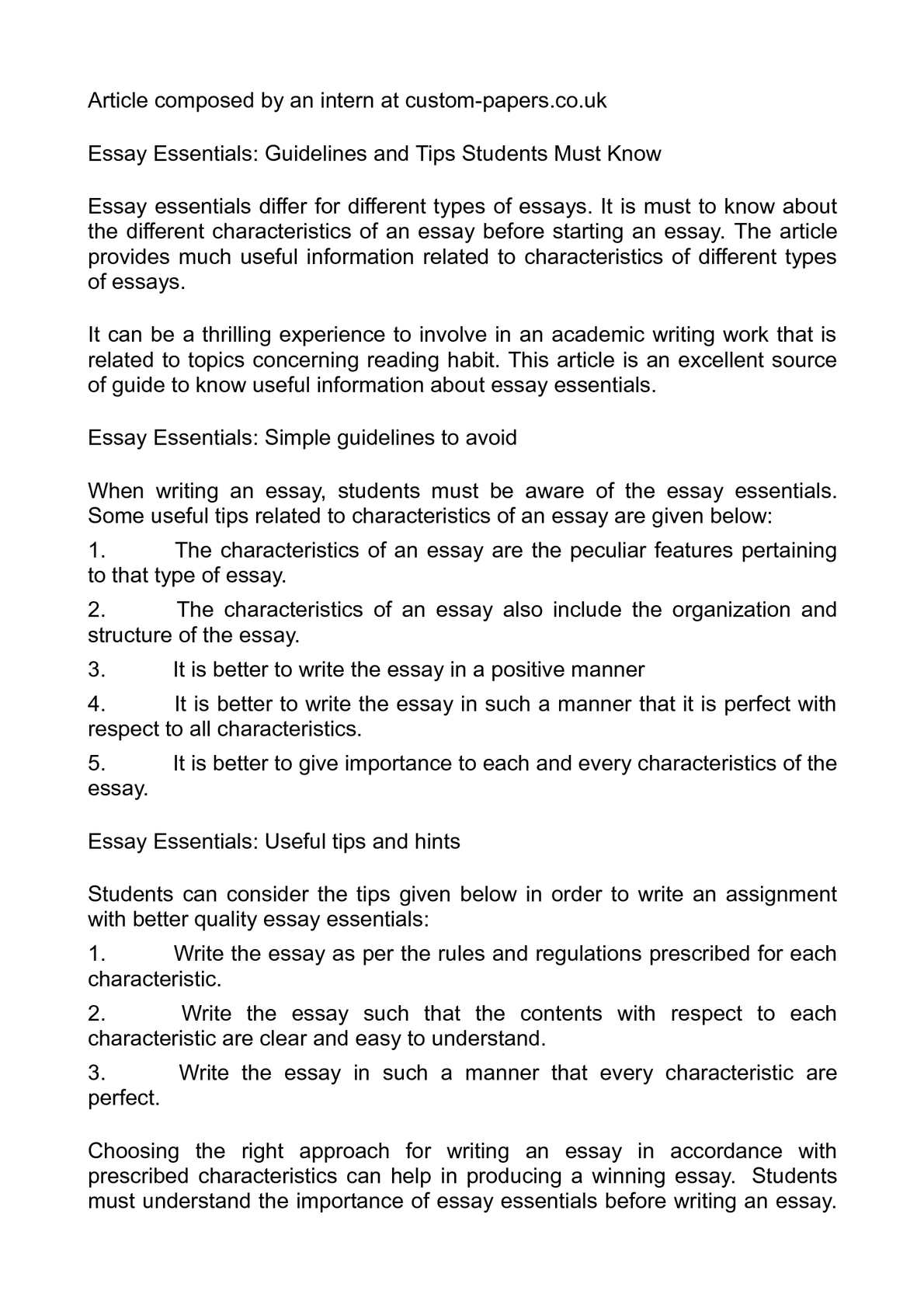 Obesity Essay Thesis  High School Essay Sample also Proposal Essay Format Calamo  Essay Essentials Guidelines And Tips Students Must Know Essay About Learning English Language