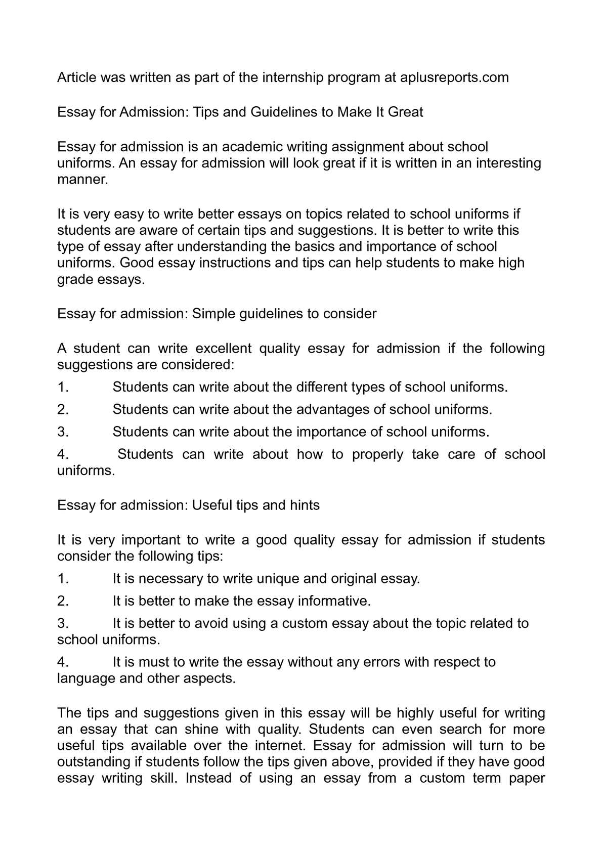 Calamo  Essay For Admission Tips And Guidelines To Make It Great  Writing Service Agreement Contracts also Essay On Global Warming In English  Make Assignment Online