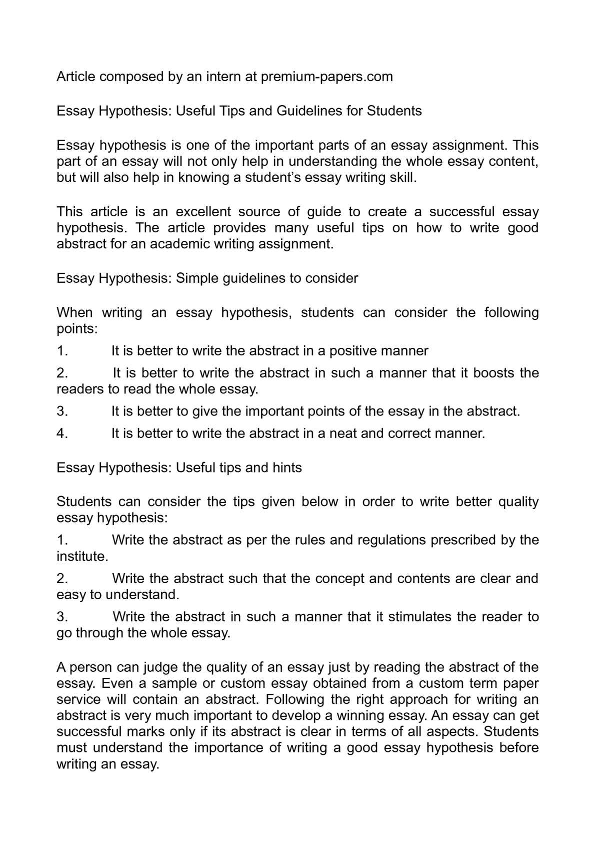 Science And Religion Essay  Is Psychology A Science Essay also Thesis Statement For Essay Calamo  Essay Hypothesis Useful Tips And Guidelines For Students Narrative Essay Thesis