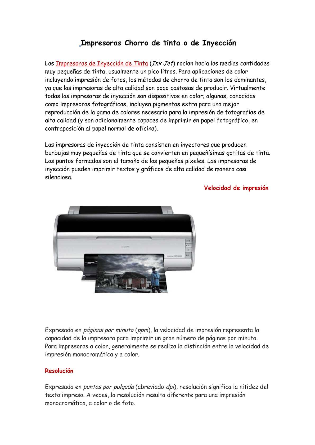 Calaméo - Tipos de Impresoras
