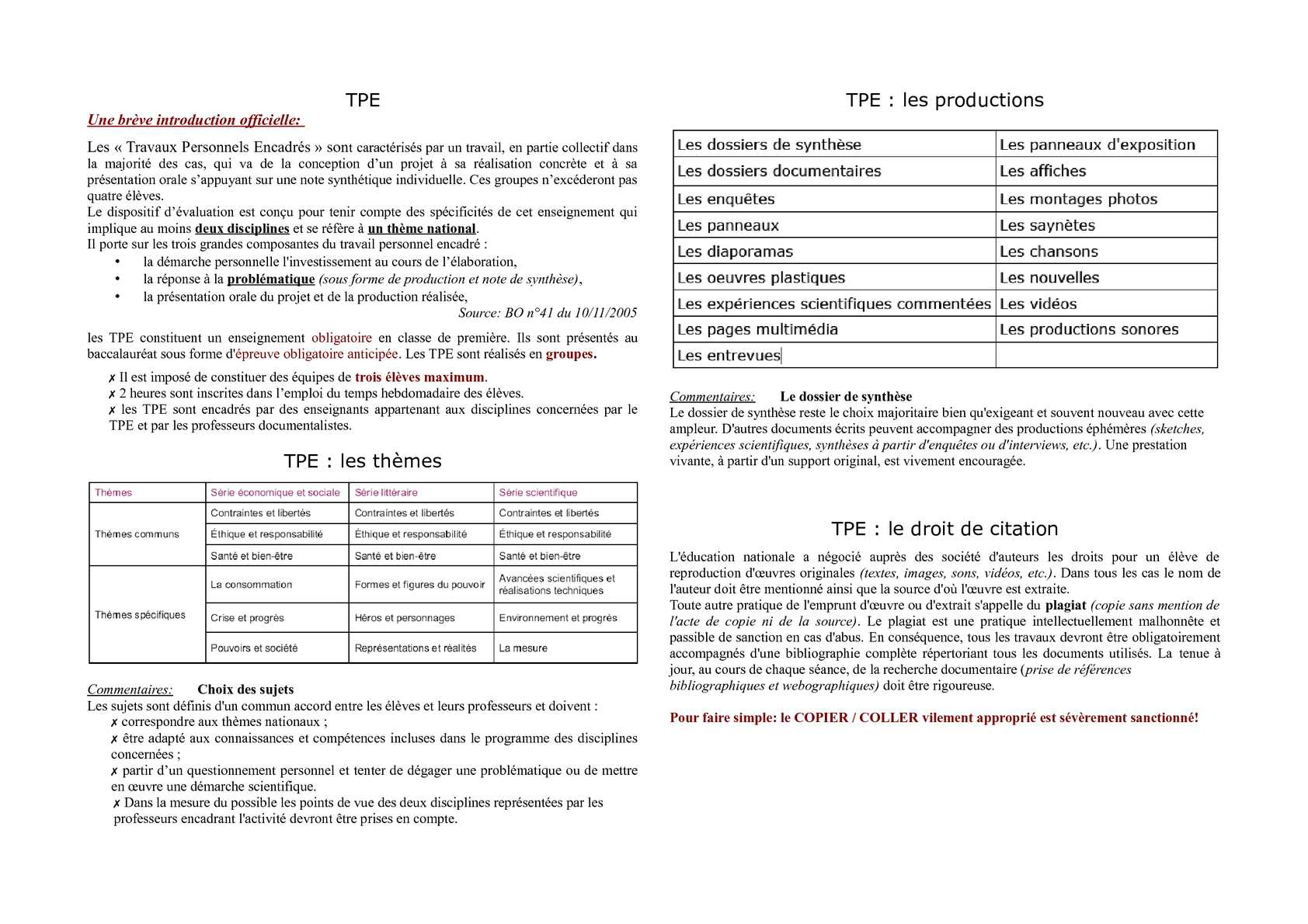techniques synthèse de documents