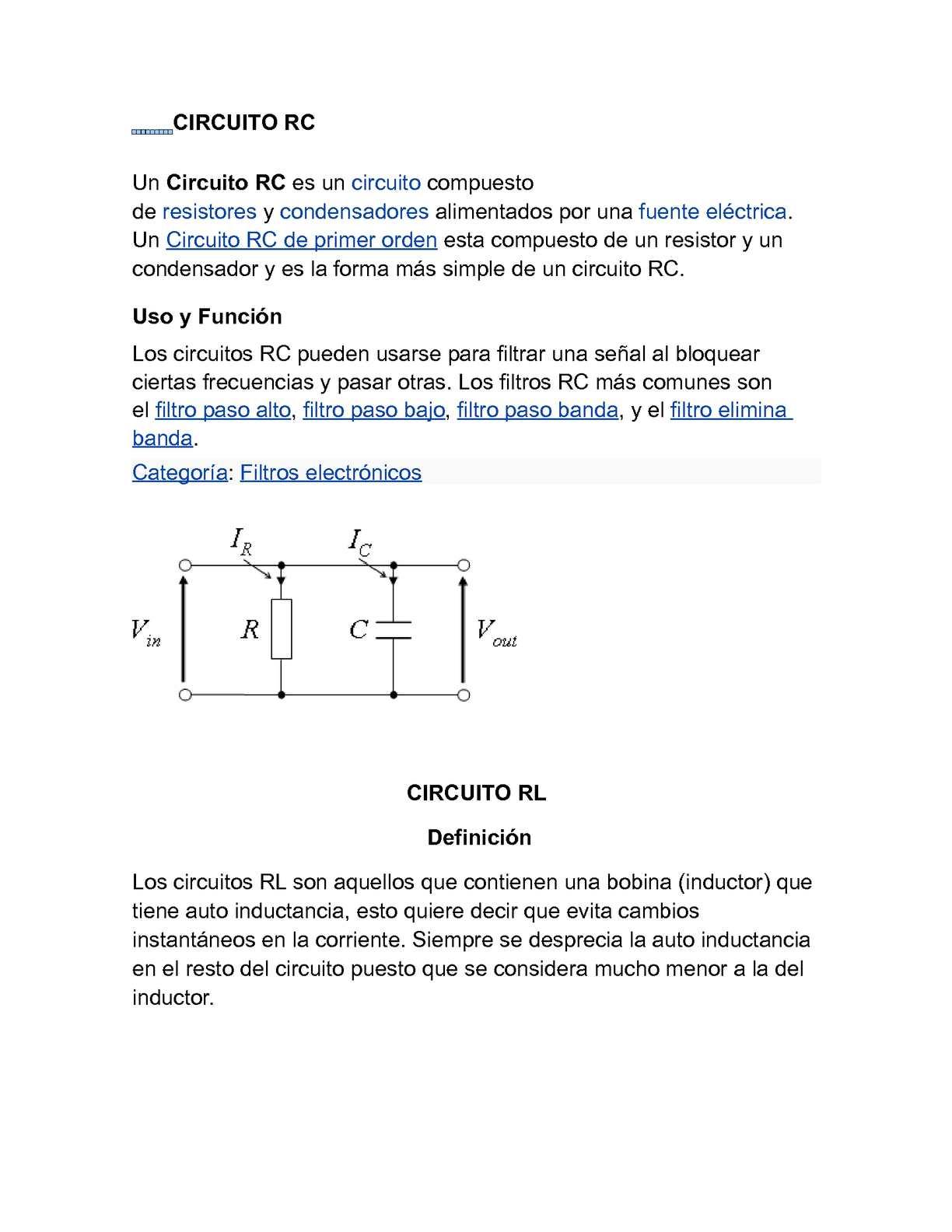 Circuito Lc : Ejercicios resueltos de circuitos rc