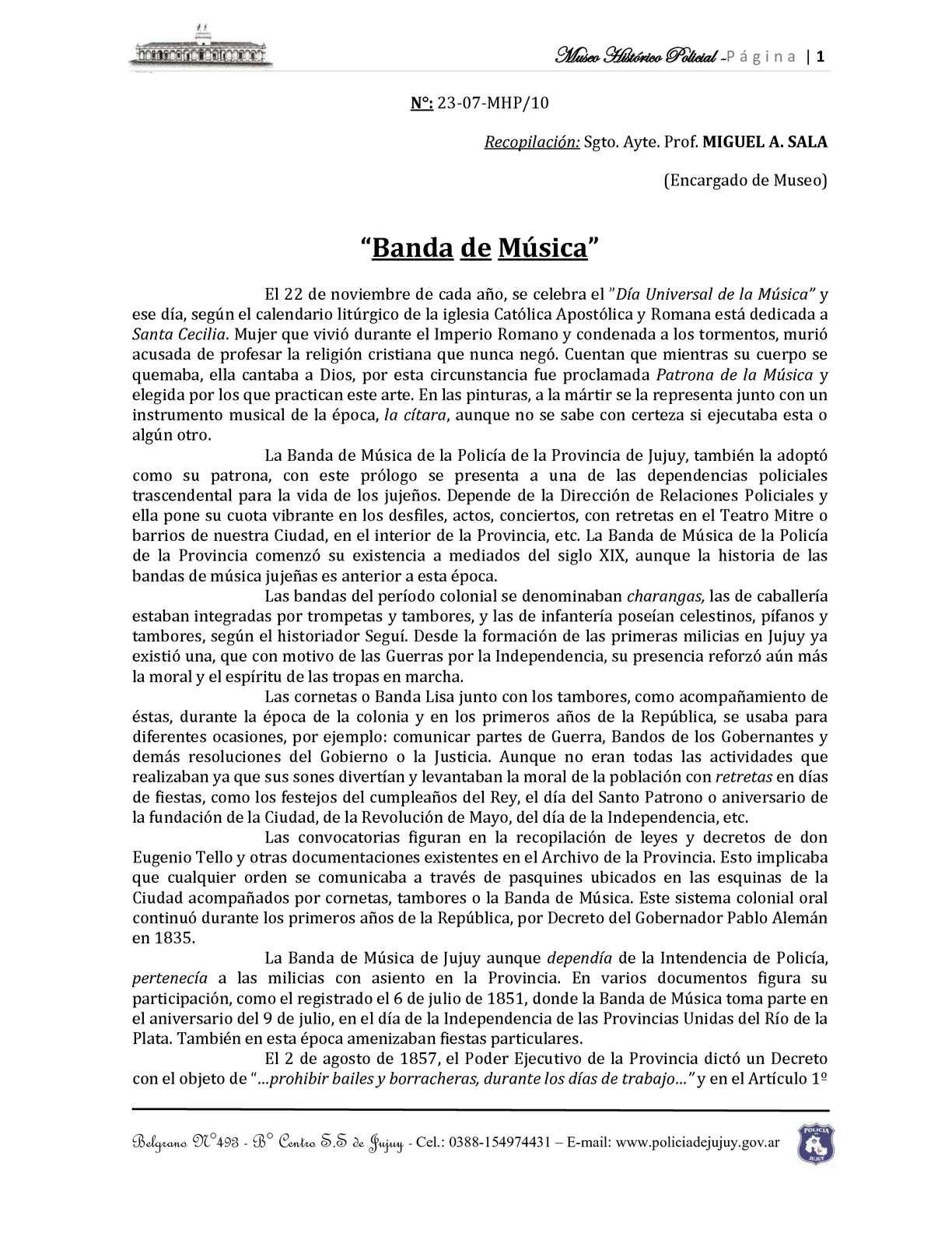 Banda de Musica - Policia de jujuy