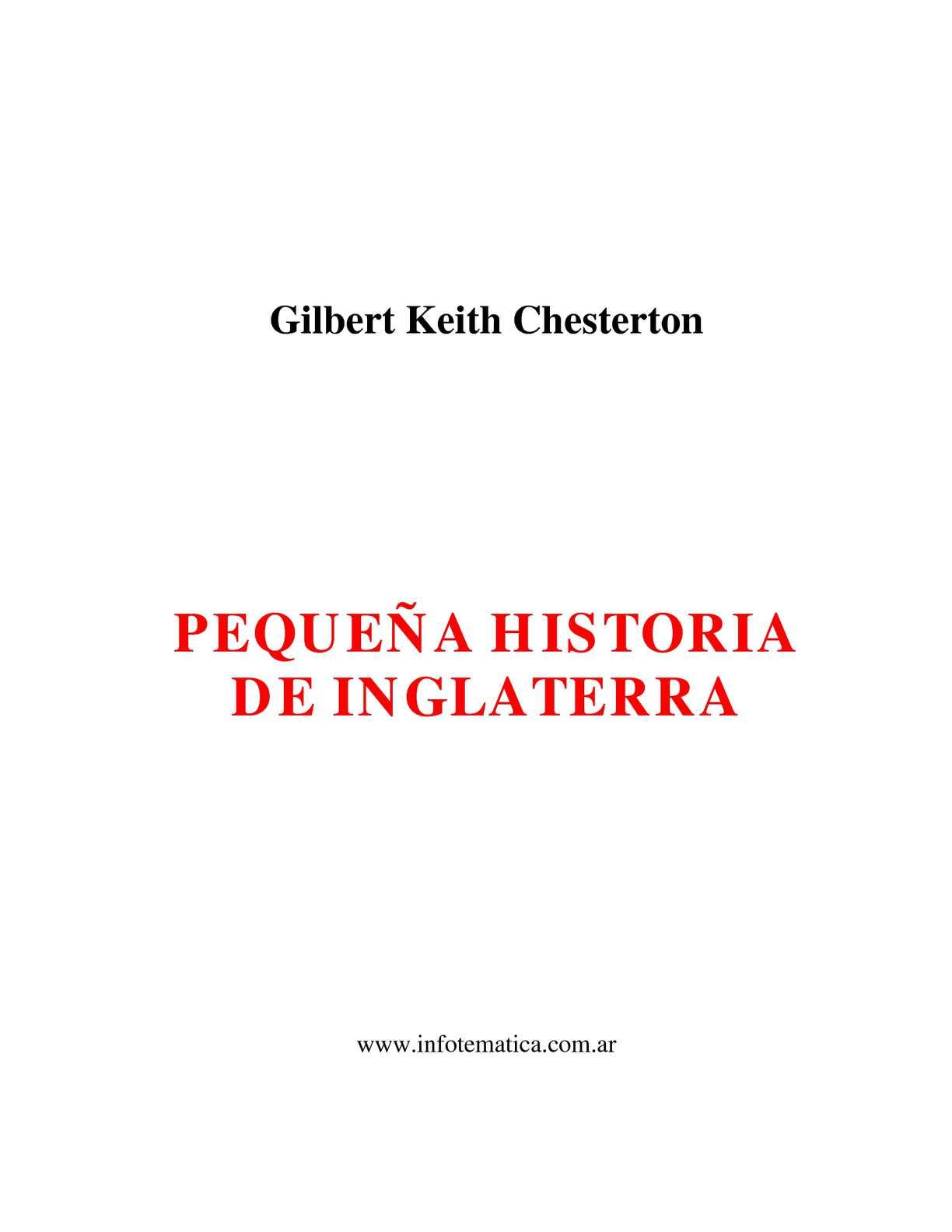 Calaméo - Pequeña Historia de Inglaterra - Chesterton