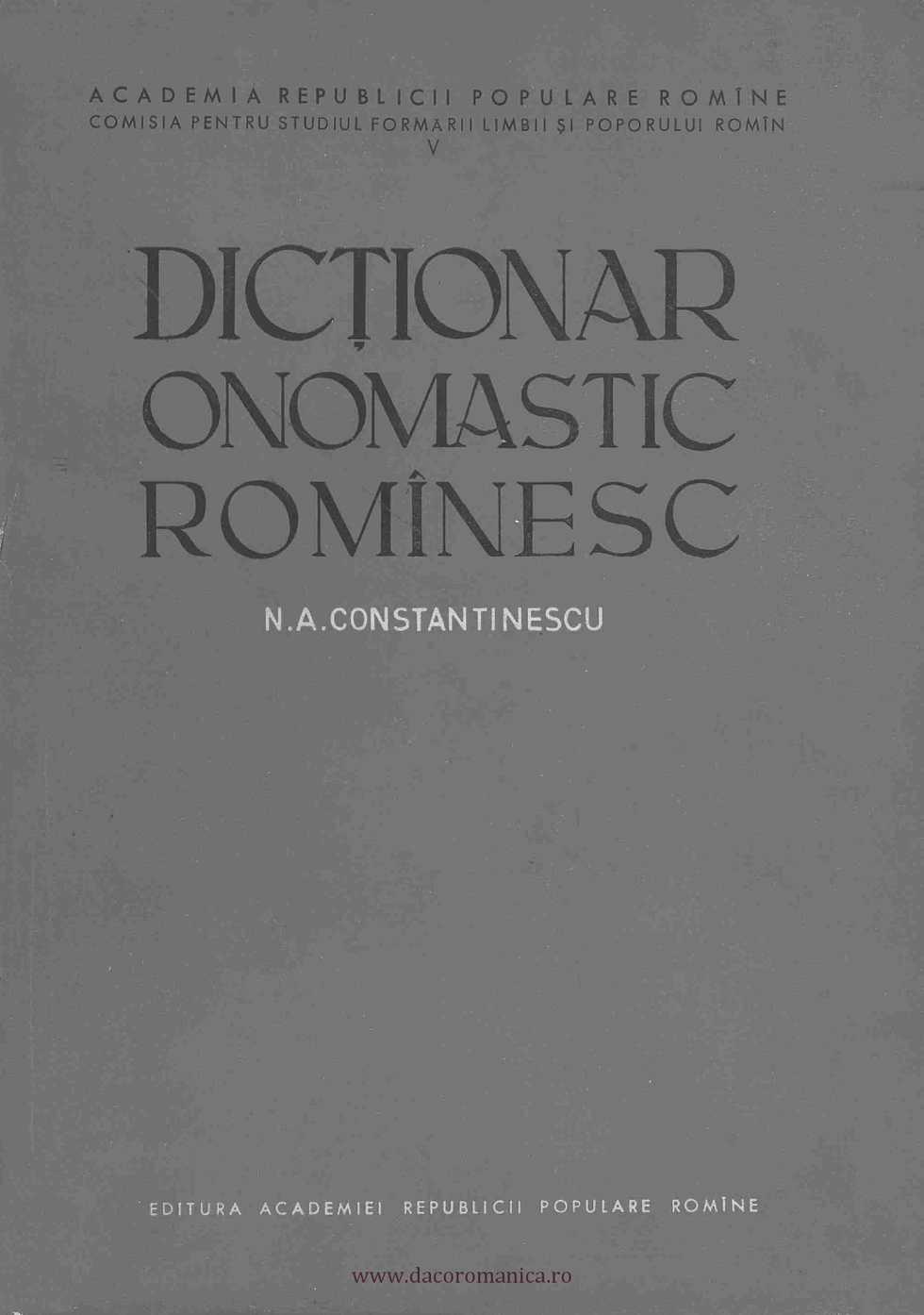 onomastica dex