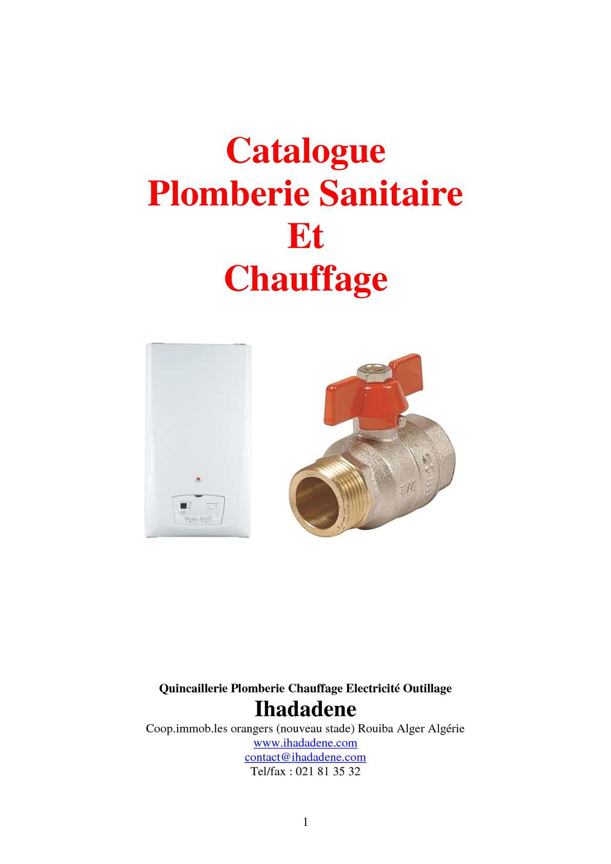 Calam o plomberie chauffage for Plomberie sanitaire algerie