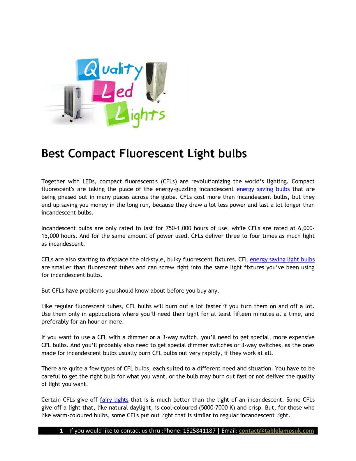 Calamo 017best Compact Fluorescent Light Bulbs How A Three Way Switch Works