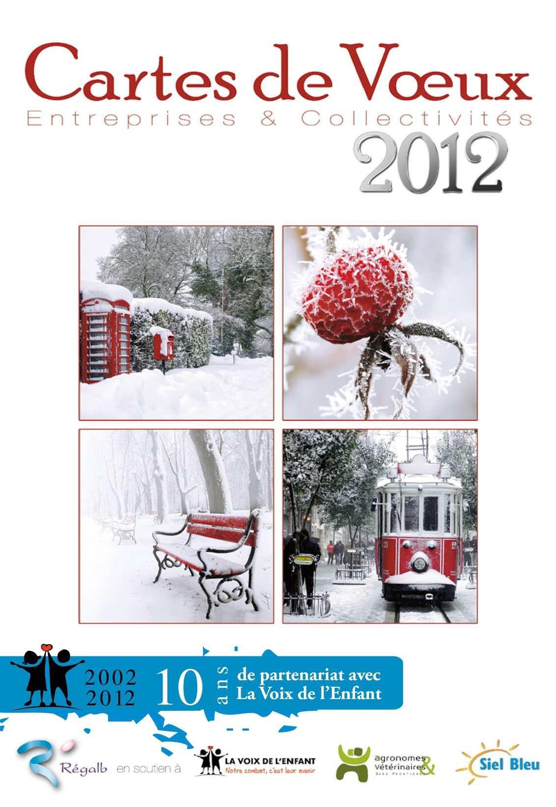 Cartes de voeux 2012 pour entreprises et collectivités