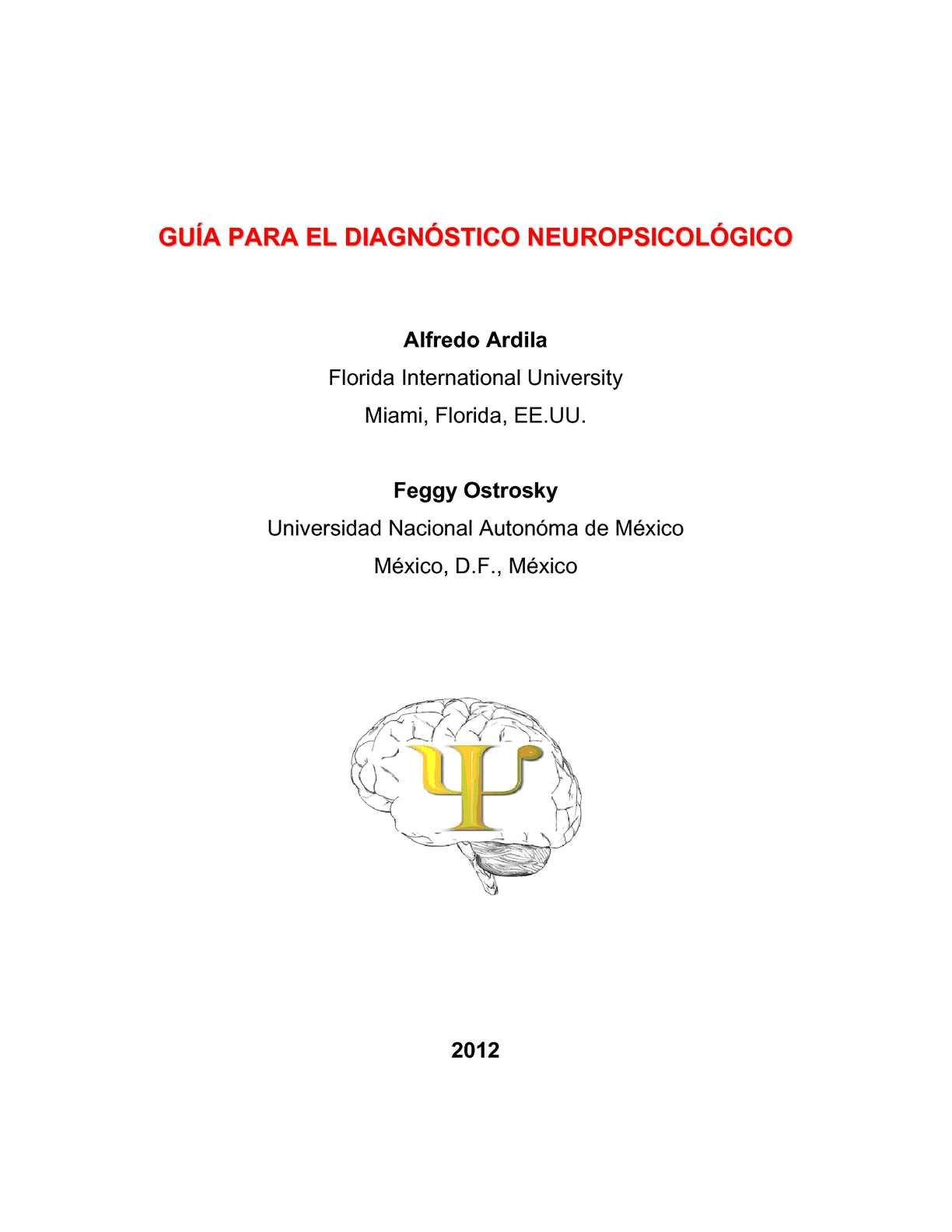 Calaméo - Guía para el Diagnóstico Neuropsicológico