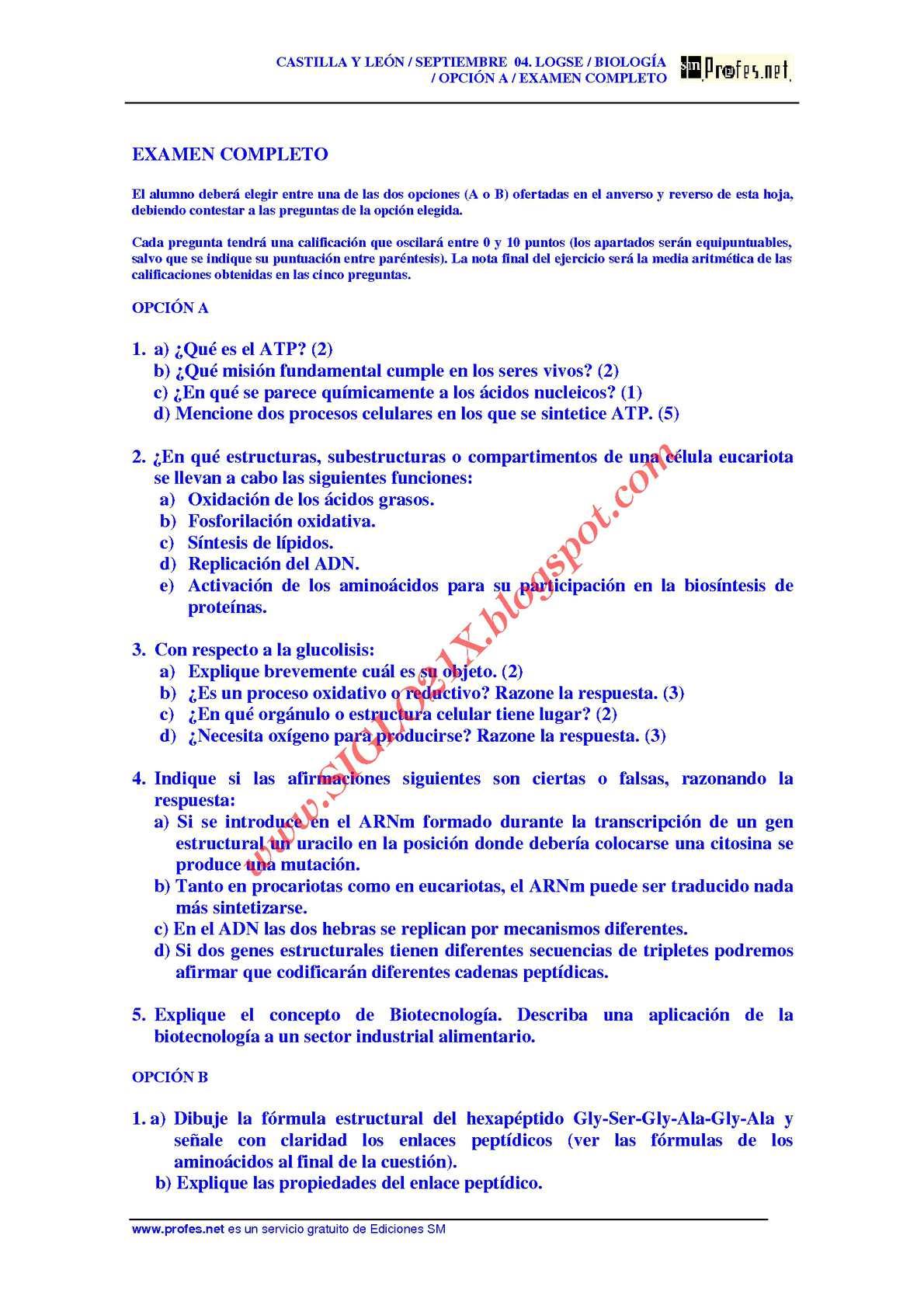 Calaméo - BIOLOGIA-SELECTIVIDAD-EXAMEN 2 RESUELTO-CASTILLA Y LEON ...