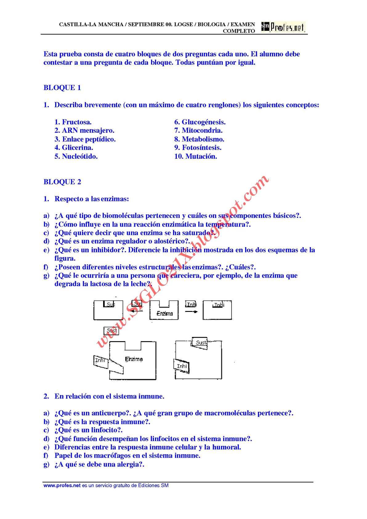 BIOLOGIA-SELECTIVIDAD-EXAMEN 10 RESUELTO- CASTILLA-LA MANCHA-www.SIGLO21X.blogspot.com