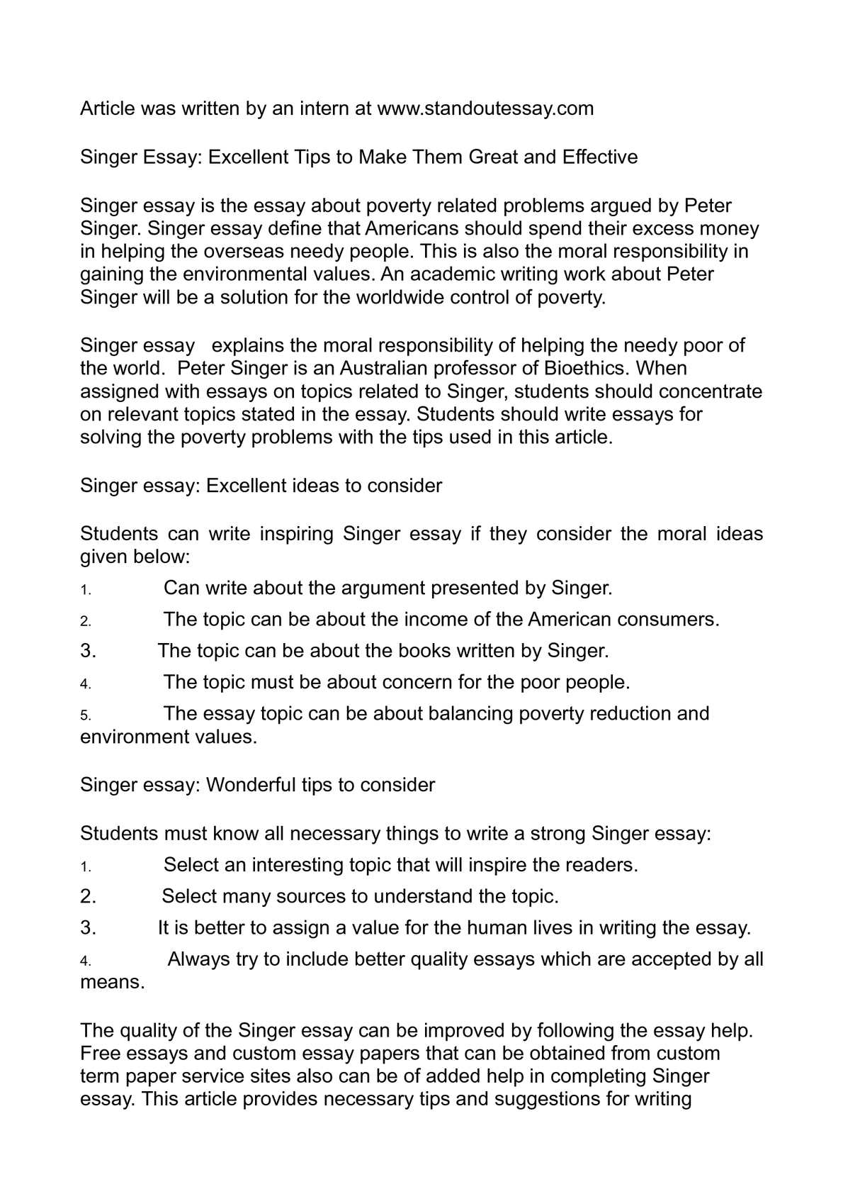 Calaméo - Singer Essay: Excellent Tips to Make Them Great and Effective
