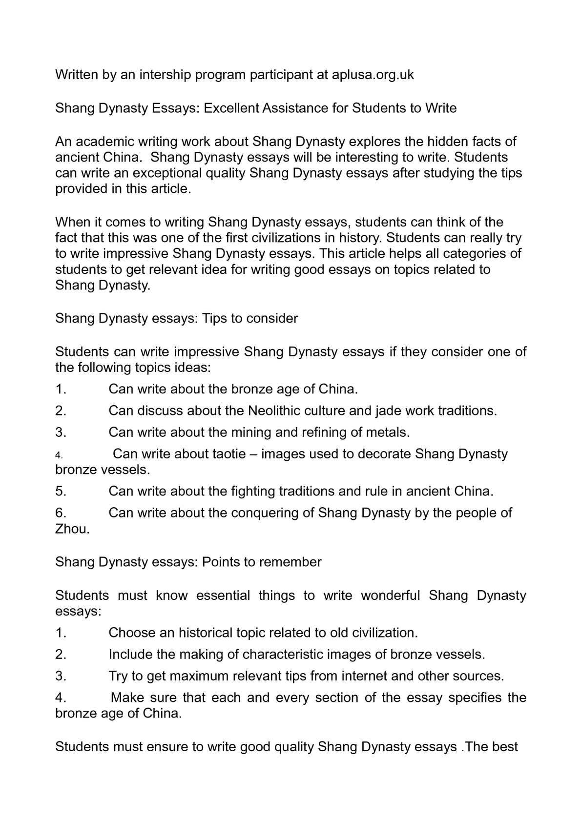 shang dynasty essay Sample of zhou dynasty essay (you can also order custom written zhou dynasty essay).