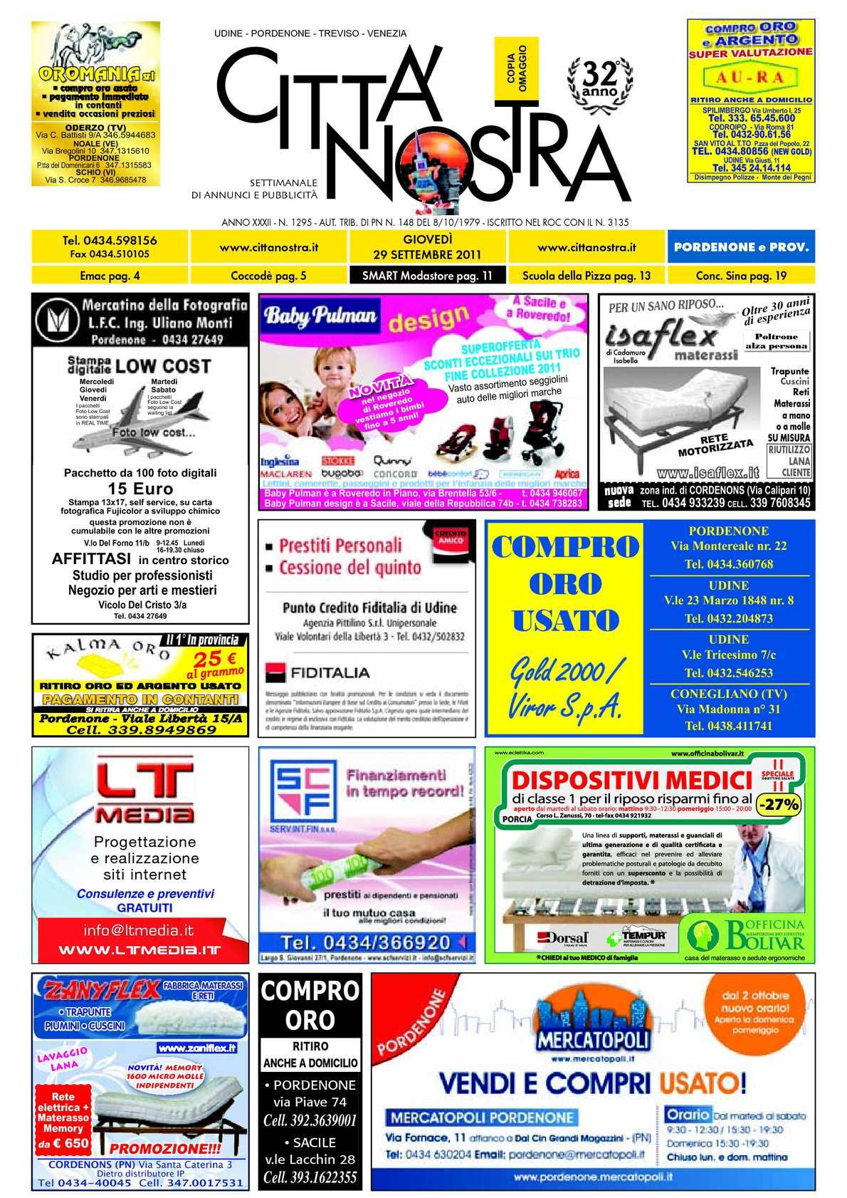 Calaméo Citt Nostra Pordenone Del 29 09 2011 N 1295