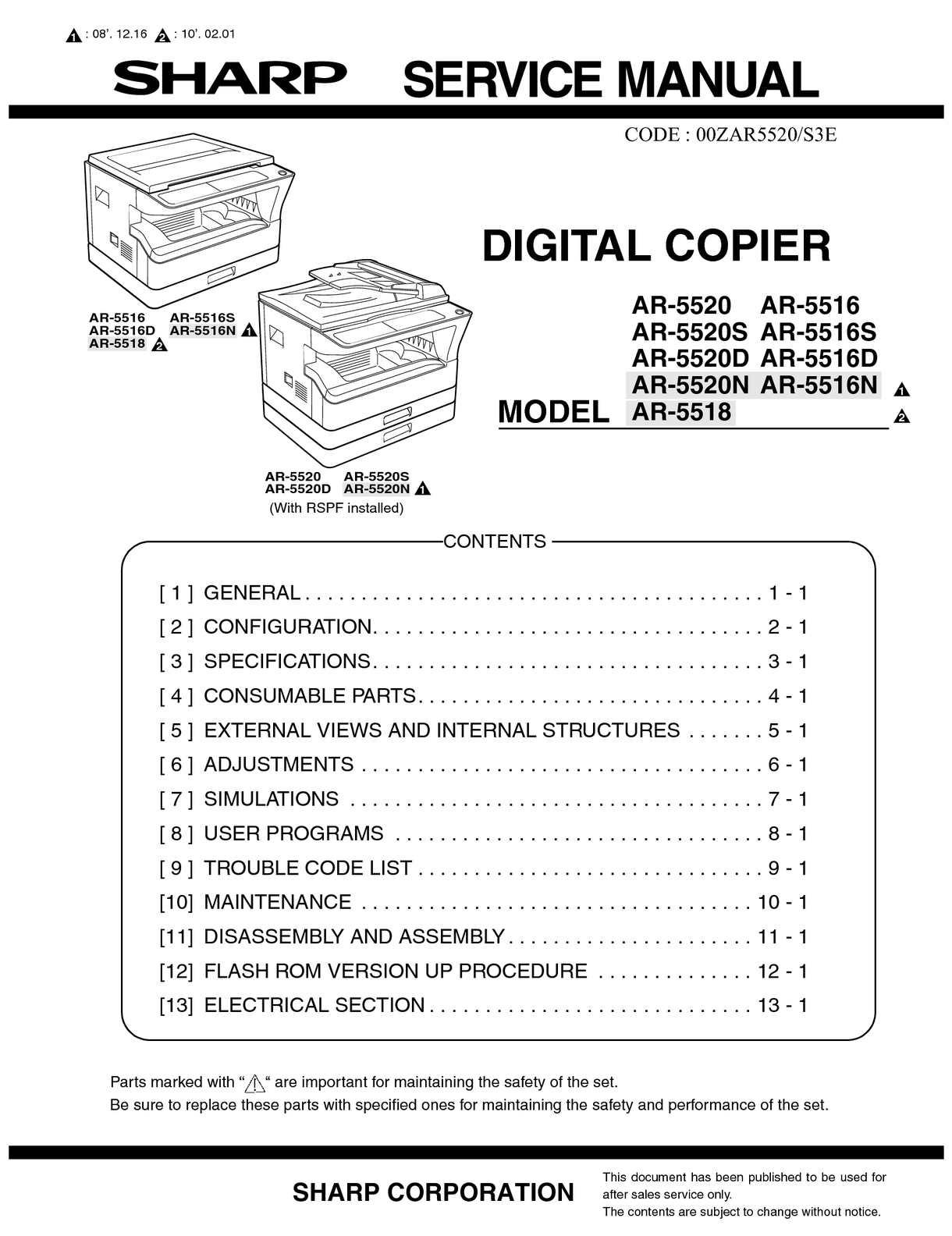 Service Manual AR 5516/20