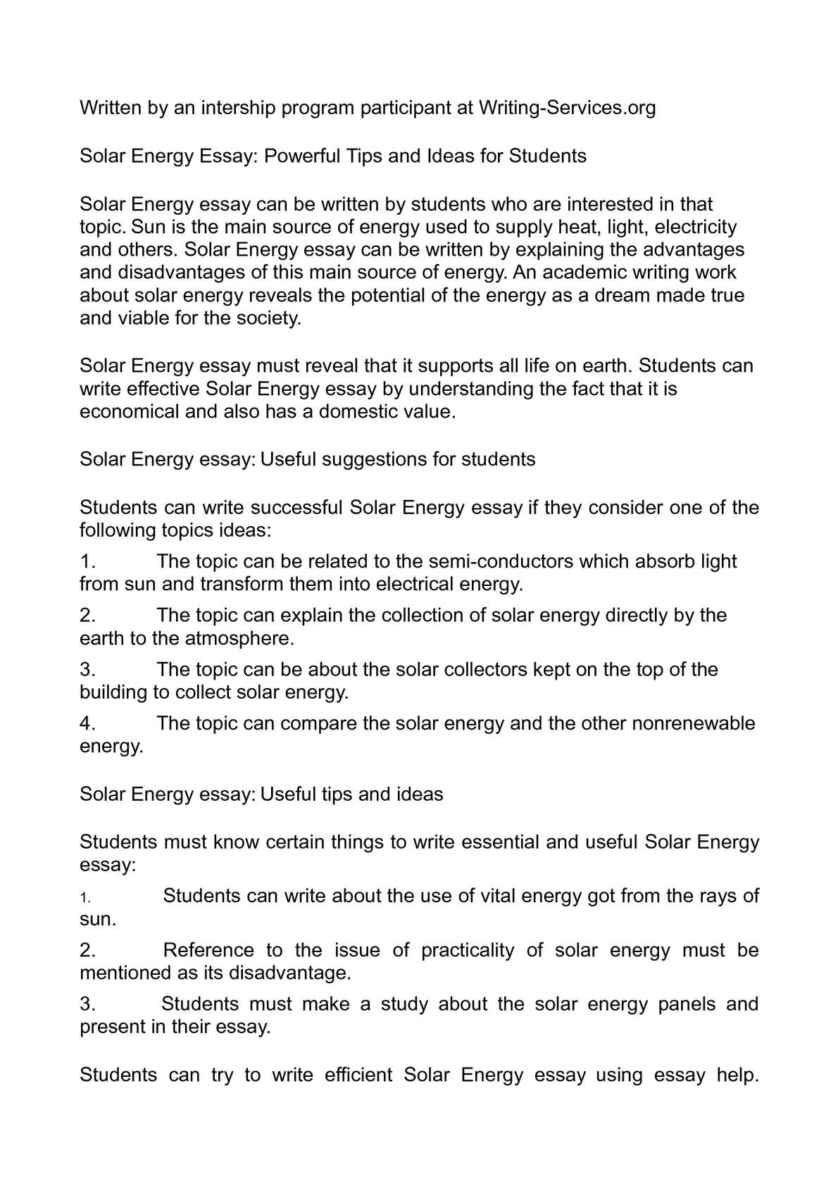understanding electricity essay I have very little understanding of  27 essay on my life without electricity the inr results are sent to the referring healthcare provider at the end of each visit.