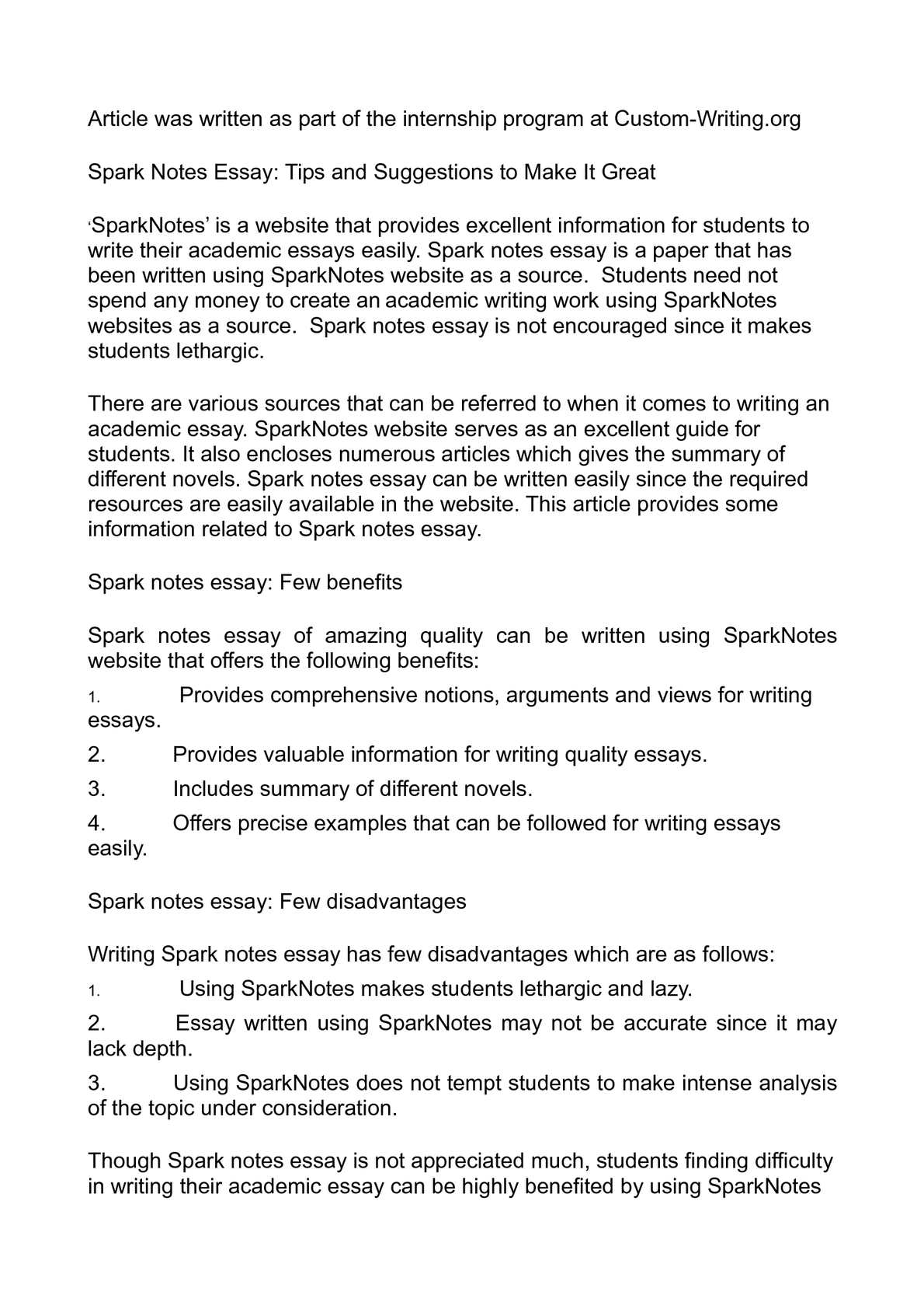 Business Essay Examples  Essay About Good Health also Reflection Paper Example Essays Calamo  Spark Notes Essay Tips And Suggestions To Make It Great Thesis Statement Descriptive Essay