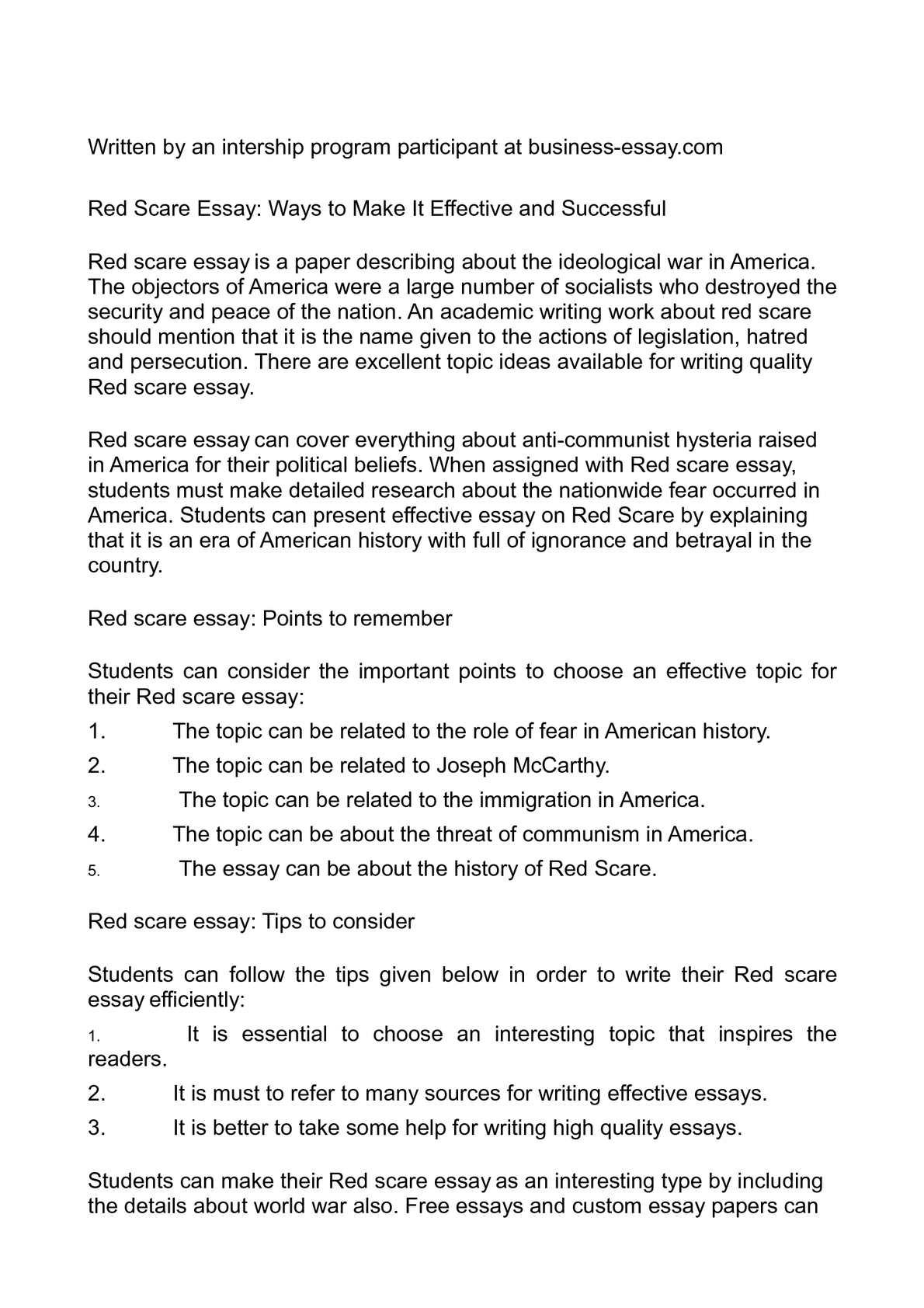free essays com