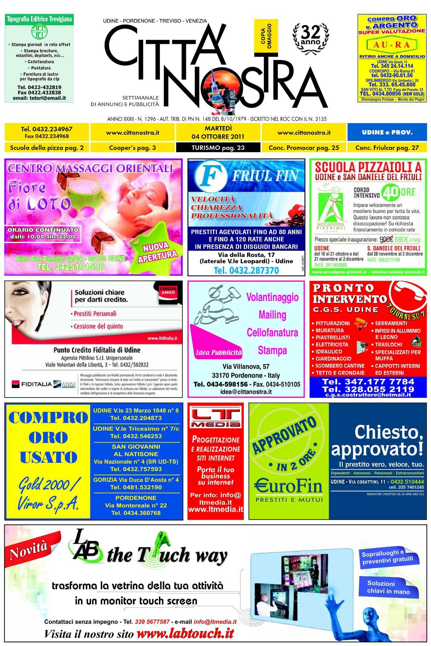 Calaméo Citt Nostra Udine Del 04 10 2011 N 1296