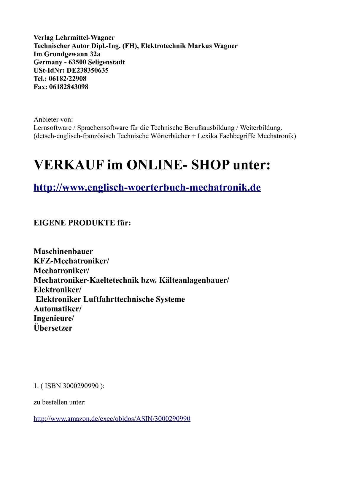 Calaméo - Anbieter Verlag Lehrmittel Wagner: Leseprobe deutsch ...
