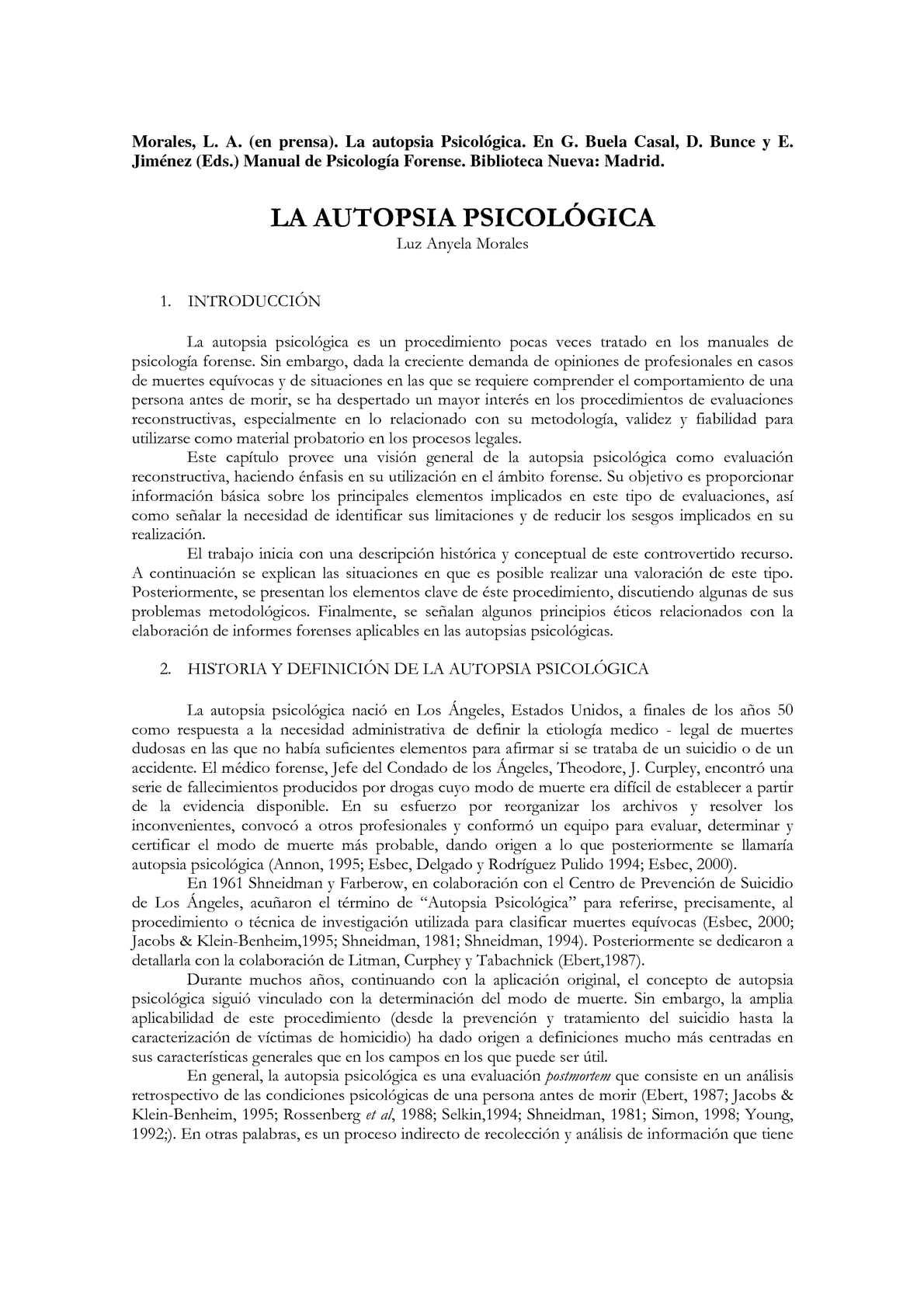 LA AUTOPSIA PSICOLÓGICA PDF