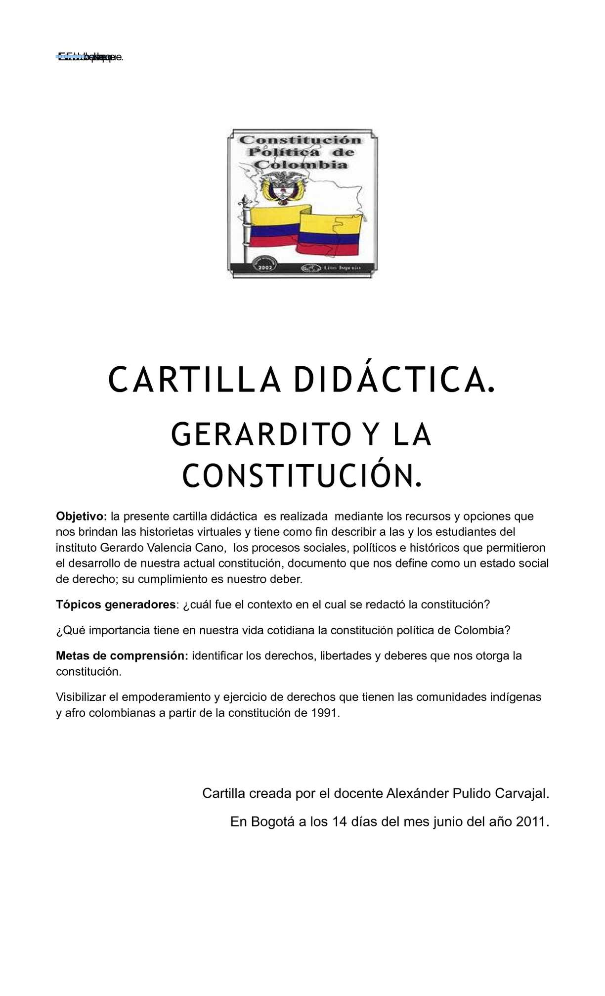 cartilla constitución