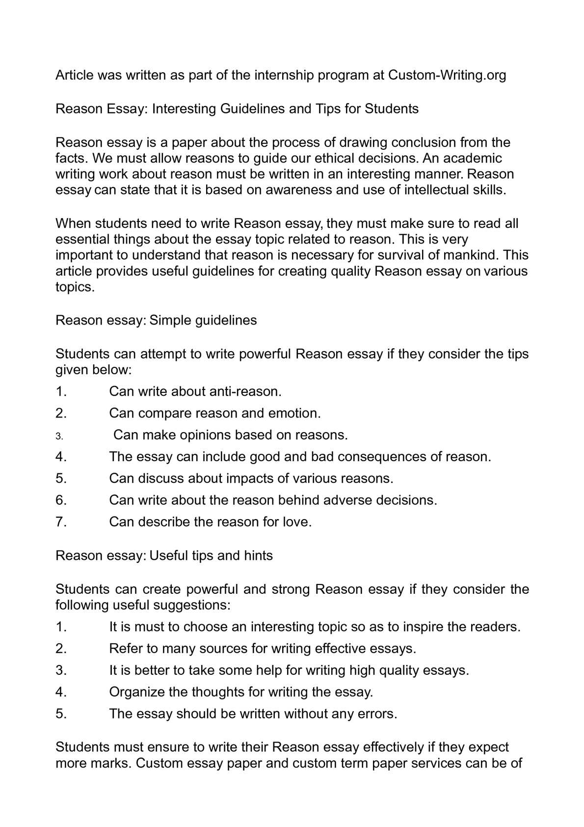 Example Of English Essay  How To Write A Good Thesis Statement For An Essay also Top English Essays Calamo  Reason Essay Interesting Guidelines And Tips For Students Sample Essay High School