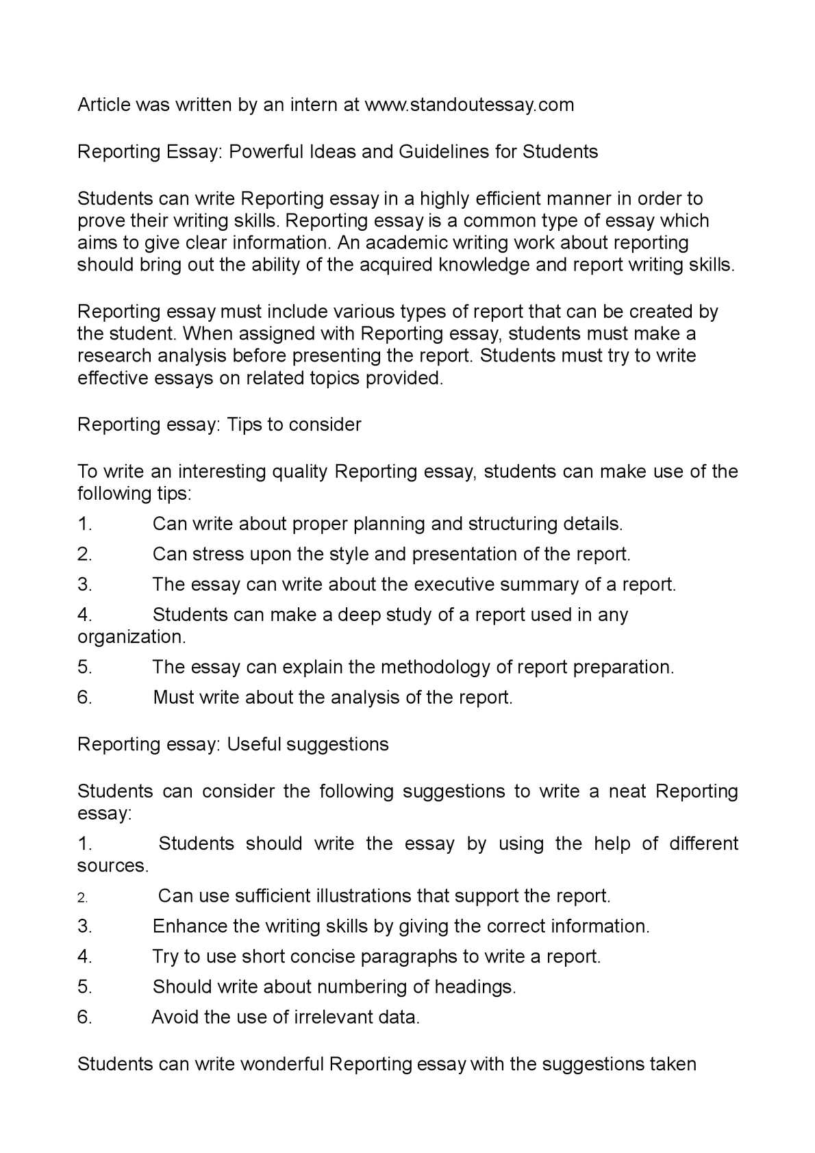 common types of academic writing