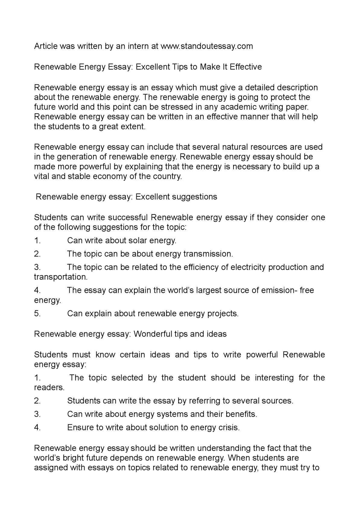 Essay On Health  English Essay Outline Format also Science Argumentative Essay Topics Renewable Energy Essay Essay On Cow In English