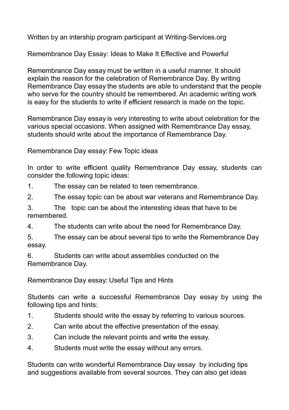 remembrance poem analysis essay