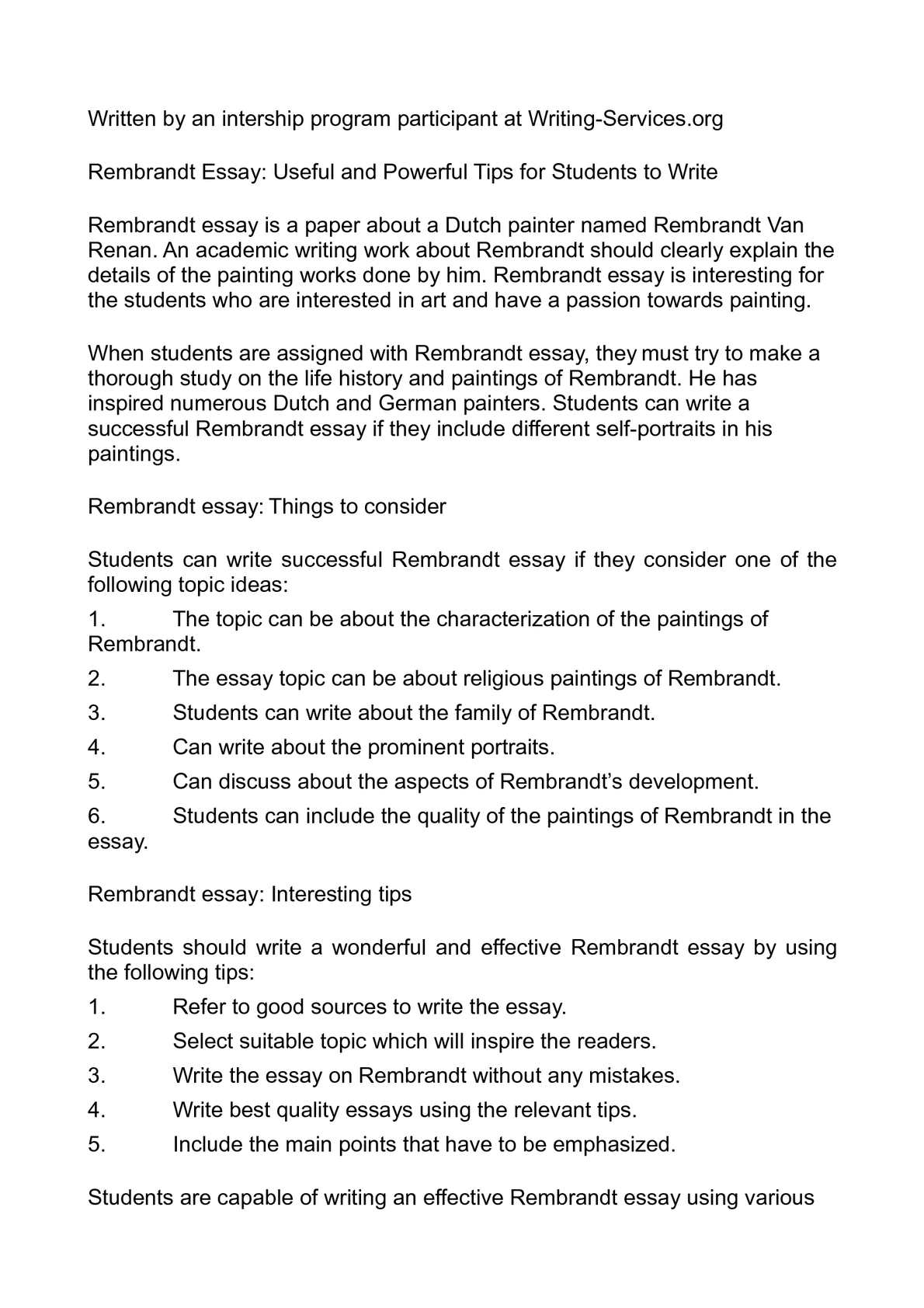 Argumentative Essay Thesis Statement Examples Calamo  Rembrandt Essay Useful And Powerful Tips For Students To Write Essay Thesis Statement also Example Of Essay Proposal Calamo  Rembrandt Essay Useful And Powerful Tips For Students To  Good High School Essay Topics