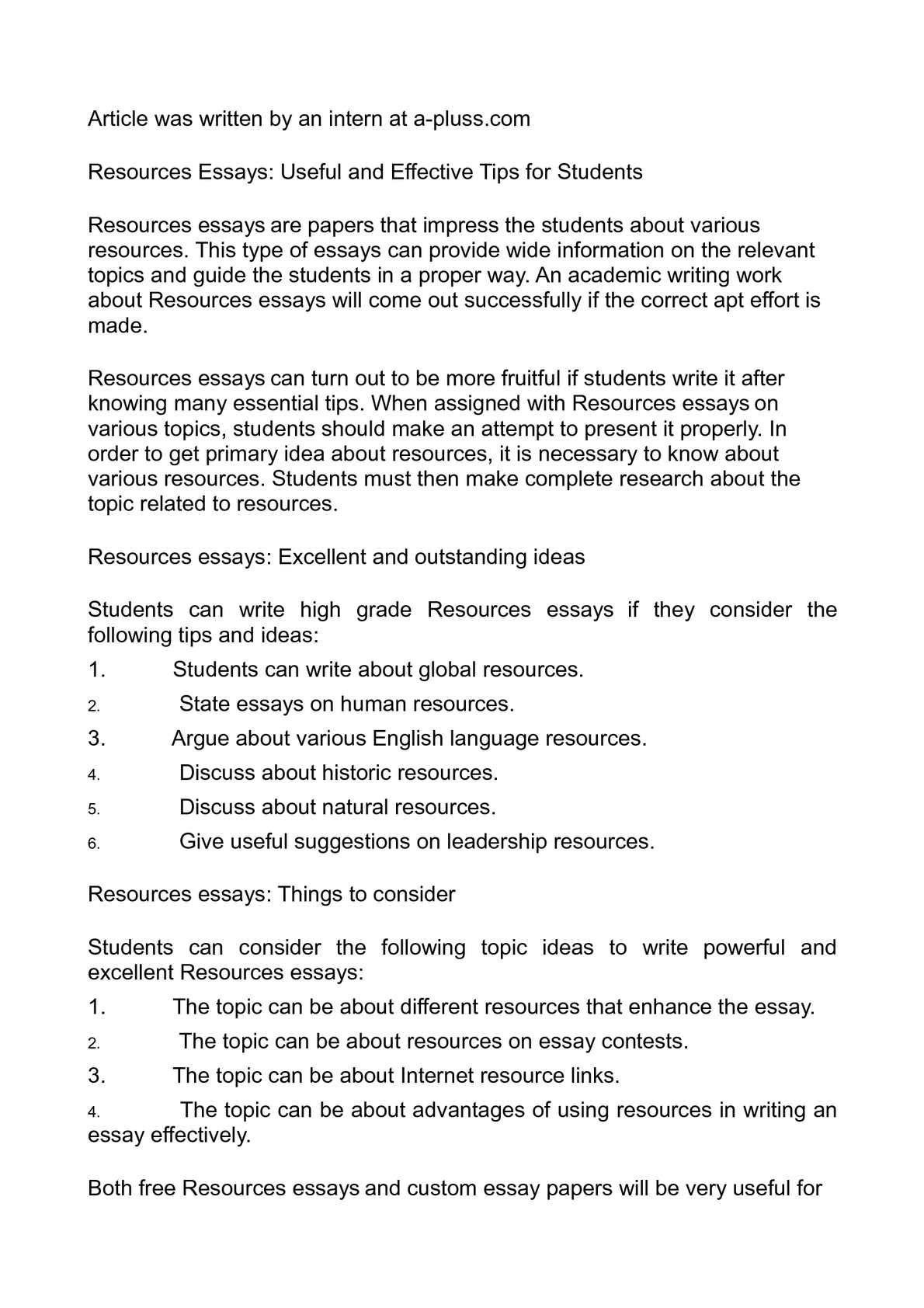 Descriptive Essay Topics For High School Students  Thesis Statement In An Essay also Sample Narrative Essay High School Calamo  Resources Essays Useful And Effective Tips For Students General English Essays