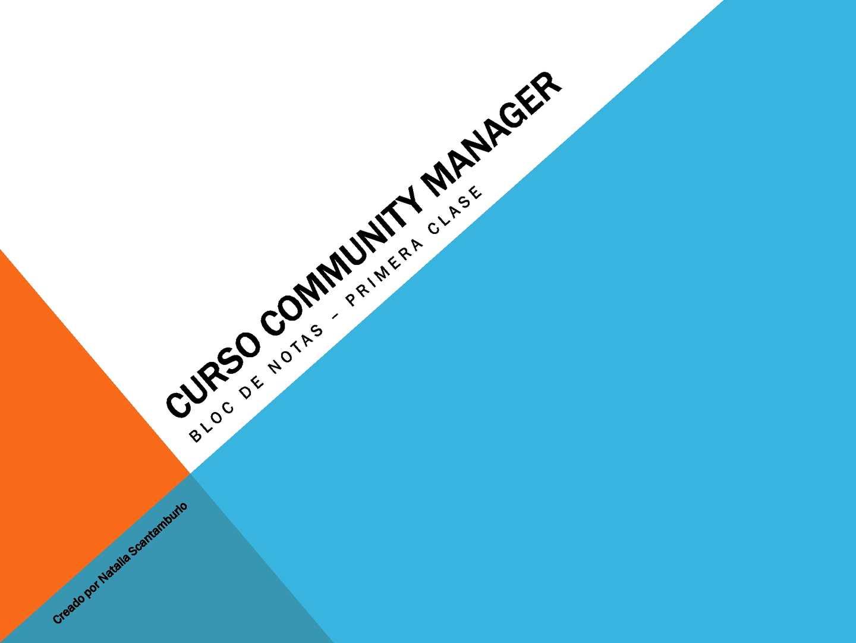 Curso Community Manager - Notas de clase (I)