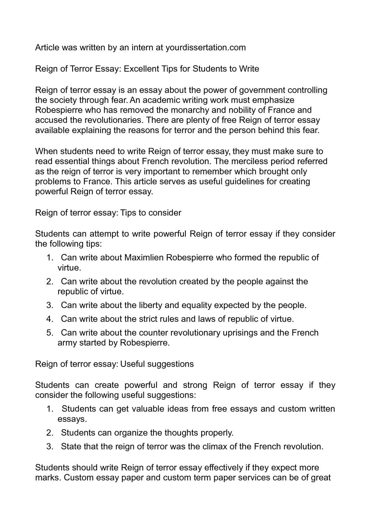 Sample Problem Solution Essay  The Blind Side Michael Oher Essay also Essays About Diversity Calamo  Reign Of Terror Essay Excellent Tips For Students To Write Persuasive Essay Death Penalty