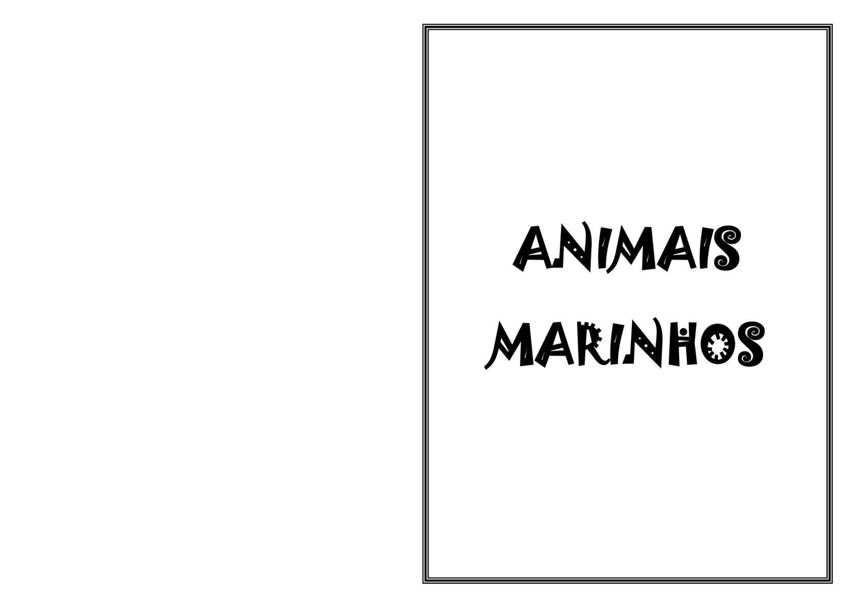 Album de Figurinhas - Animais Marinhos