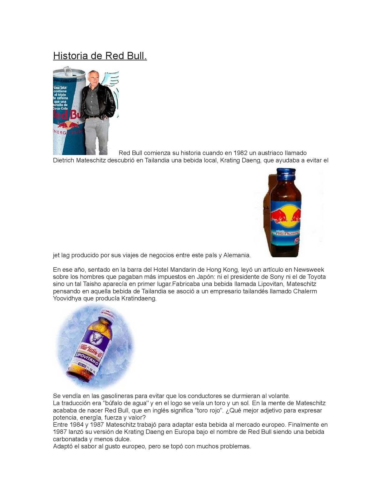 Historia de Red Bull