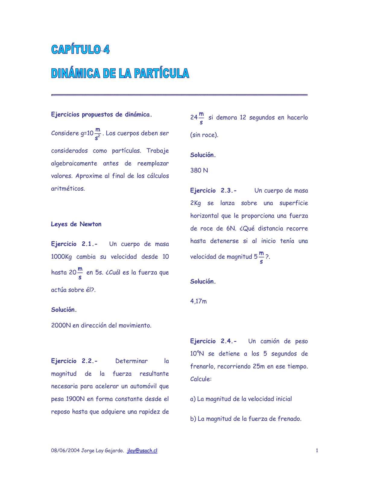 Calaméo - EJERCICIOS DE DINAMICA